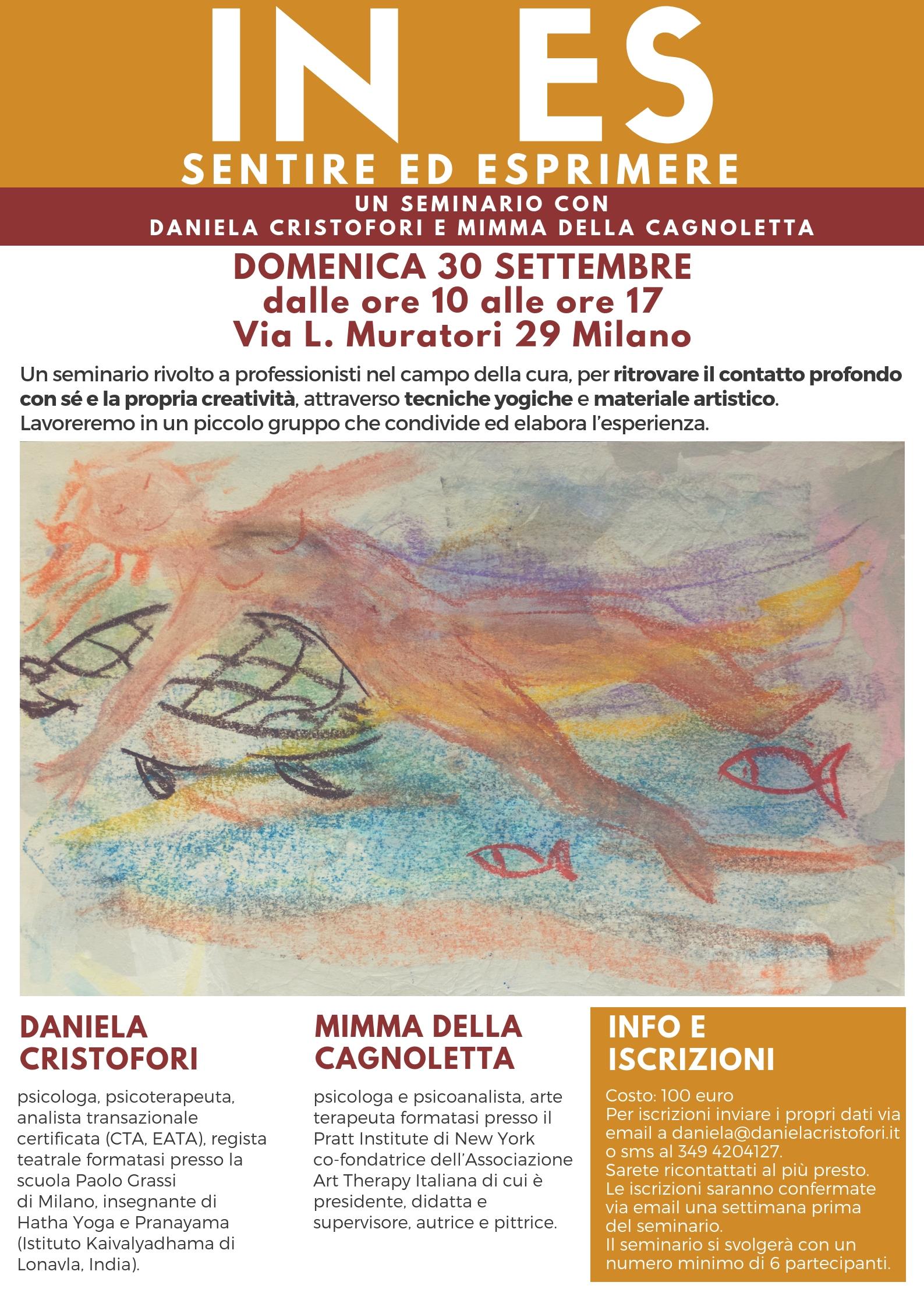 Daniela Cristofori Mimma Della Cagnoletta seminario IN-ES